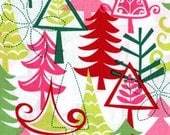 Funky Christmas Trees  Stocking - Merry Christmas - Free Personalization
