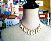 1950s droplet choker necklace