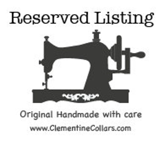 Reserved Listing for Jane
