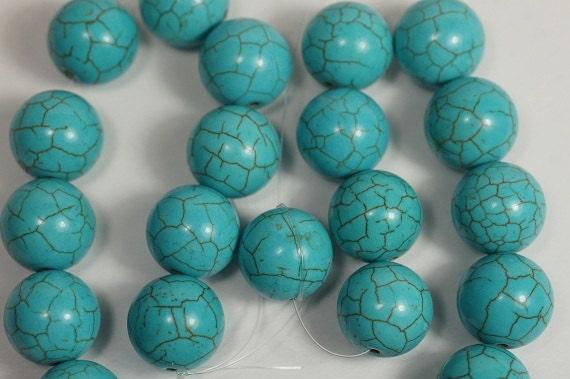 Turquoise Beads 14mm Gemstone Beads Bead Strands Bead Supplies