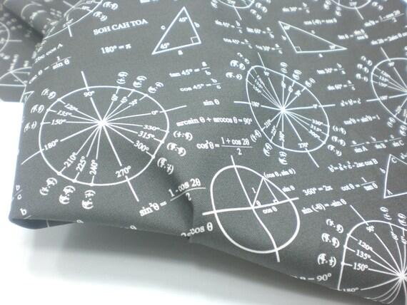 Math Fabric Quarter - Trigonometry