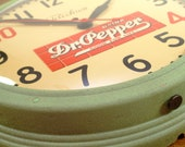 Vintage 1940's Telechron Dr. Pepper Advertising Clock
