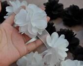 Chiffon Flower Lace Trim White Lace Trim Dress Costume Headwear Home Decor Supplies