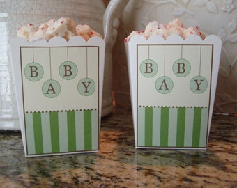 Stripes and Circles Baby Shower Favor Boxes