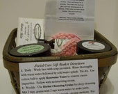 Facial Care Gift Basket - For Normal to Dry Skin - Deep cleansing with Rosewater Toner and Moisturizing Cream