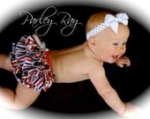 Parley Ray American Beauty Patriotic Independence 4th of July Flag Ruffled Diaper Cover/ Baby Bloomers/ Photo Prop