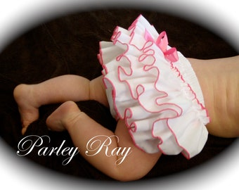 A Beautiful Parley Ray Custom Boutique Ruffled Baby Bloomer / Diaper Cover / Photo Props Ruffle Bloomers