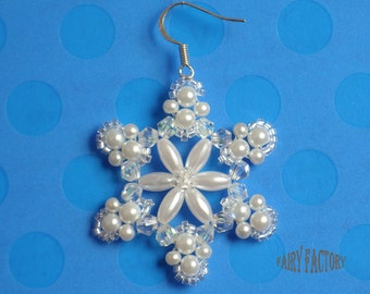 Let it Snow earrings -  Pattern