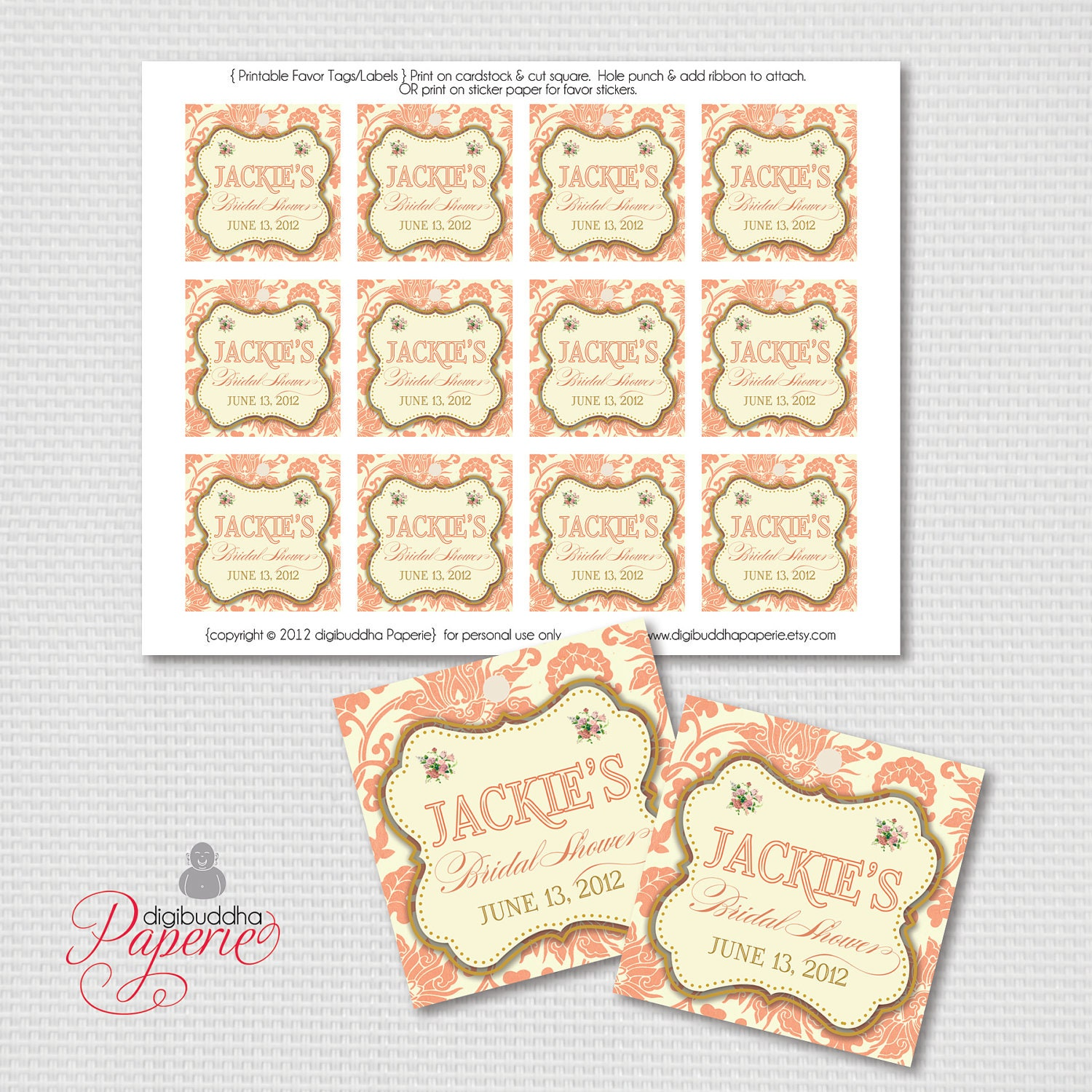 Ideas Free Printable Wedding Gift Tags fancy tags etsy coral favor ...