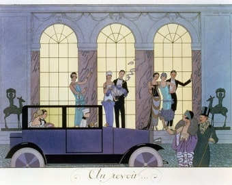 ART DECO Home Decor Print of Au Revoir Party by Barbier
