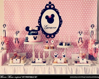 MINNIE Mouse Backdrop - Printable File - Print Your Own