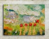 "Mixed Media on Canvas ''Meadow"" by Magdalena Krzak"