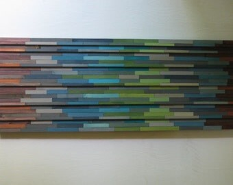 Wood Wall Art,  Reclaimed, Abstract Art Painting Sculpture  Texture, Head board, Furniture
