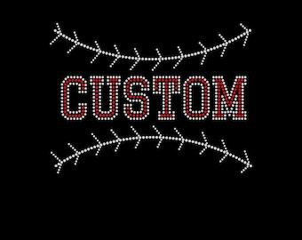 Custom Baseball with Stitching Bling Shirt
