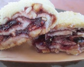 NEW Raspberry-Walnut Rugelach by BakeCraft - tart-sweet raspberries and toasted walnuts in a tender pastry dough