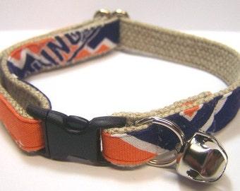 Handmade Hemp Cat Collar - University of Illinois