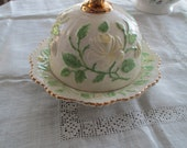 Vintage Covered Butter  Cheese Dish - Serving