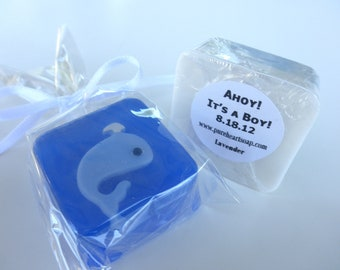 Ahoy It's A Boy Baby Shower Whale Soap Favors