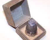 C.1900 STERLING SILVER Thimble Retailed by Marshall Field & Co, Chicago....