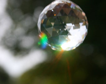 Swarovski Crystal Suncatcher- Clear Sphere