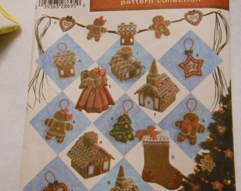 Simplicity 4810, Christmas ornaments, Treeskirt,