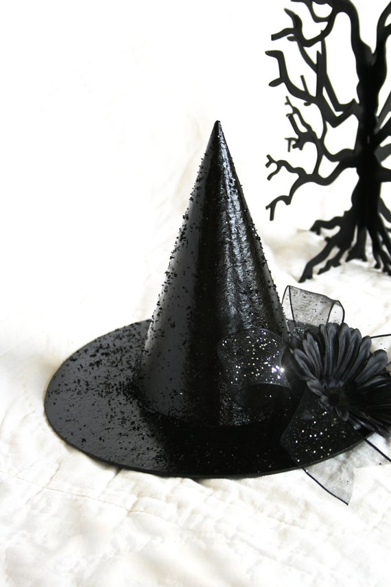 halloween witch hat glittered bling