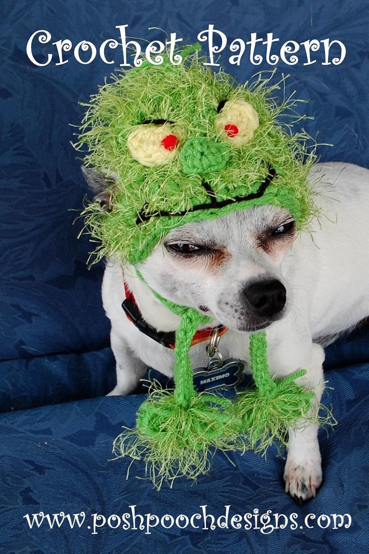 Instant Download Crochet Pattern Christmas Grinch Dog Hat