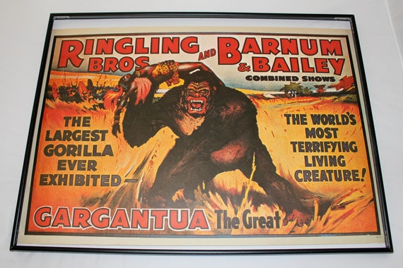 Vintage Gargantua the Great Print / Ringling Brothers / Barnum & Bailey Circus