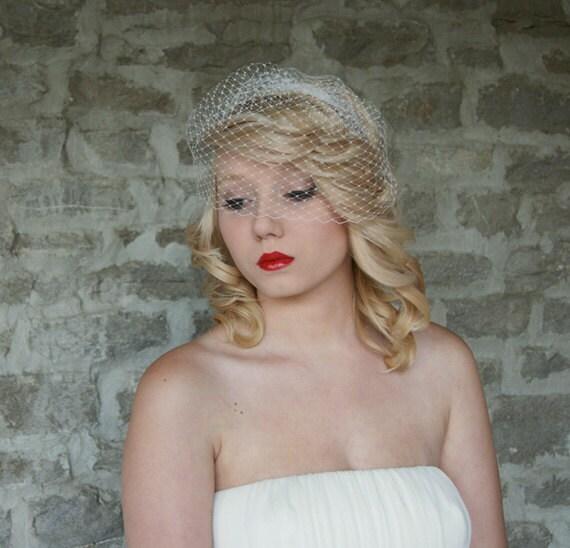 Birdcage Veil Blusher Wedding Bridal