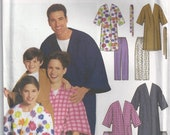 Simplicity 9834 Easy To Sew Unisex Childs Teens Adult Robe And Pants Unused Sewing Pattern XS To XL 2001