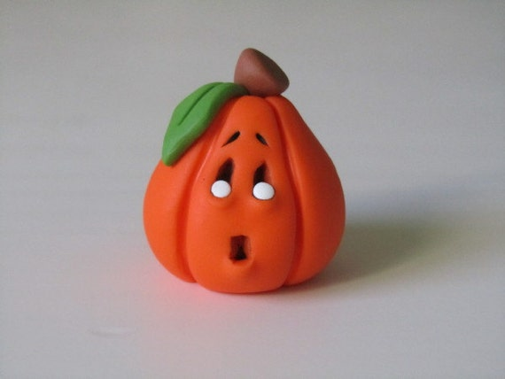 Clay Halloween Pumpkin