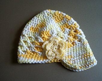 Children Crochet Brim Hat, Girl Visor Hat, Crohet Newsboy Girl Hat -