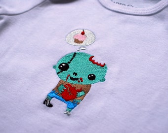 Sweet Zombie baby embroidered bodysuit made to order
