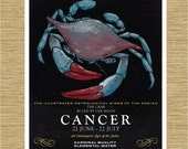 "Illustrated Zodiac Cancer the Crab 8"" x 10"""