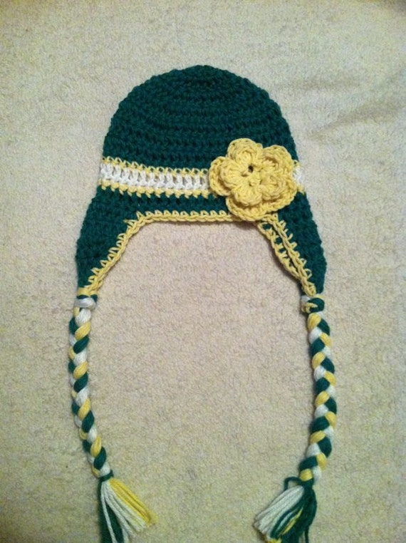 Items similar to Baby John Deere crochet hat, baby, girl ...