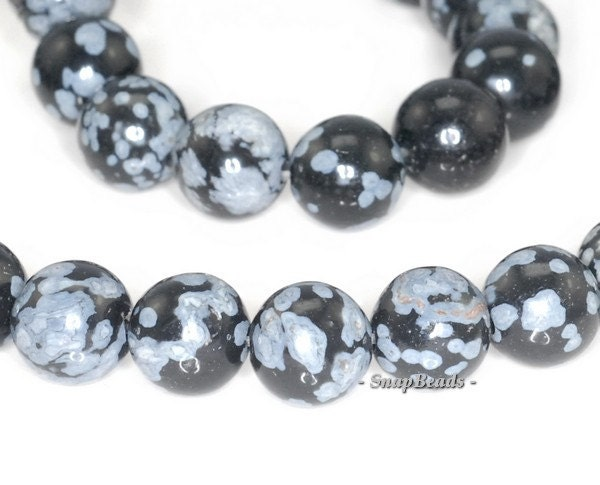 cristobalite snowflake obsidian gemstone 8mm