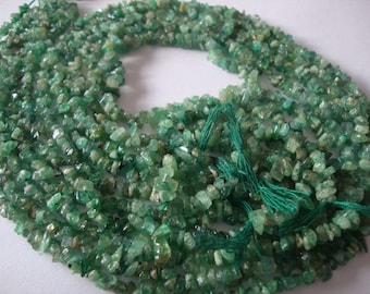 Emerald rough beads 20 strands