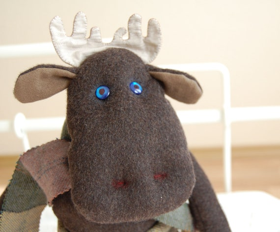 Moose Toy. Moose. Fall baby. Plush toy. Stuffed Toy. Brown Moose