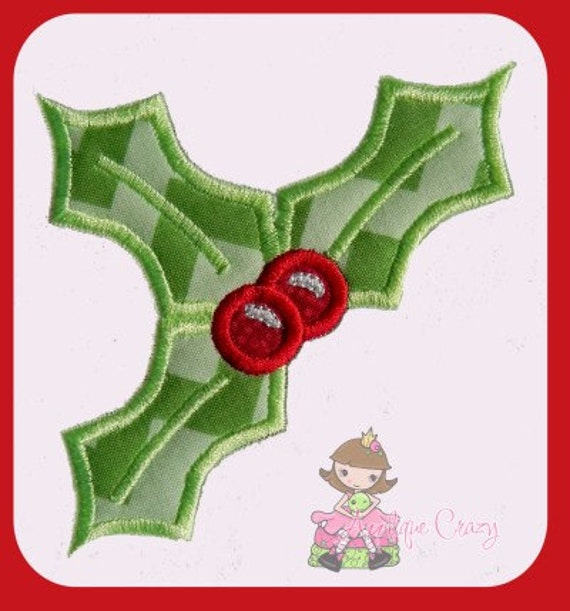 Holly Leaves applique design