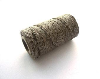 Natural linen thread / taupe linen cord / for bookbinding / burlap color linen cord