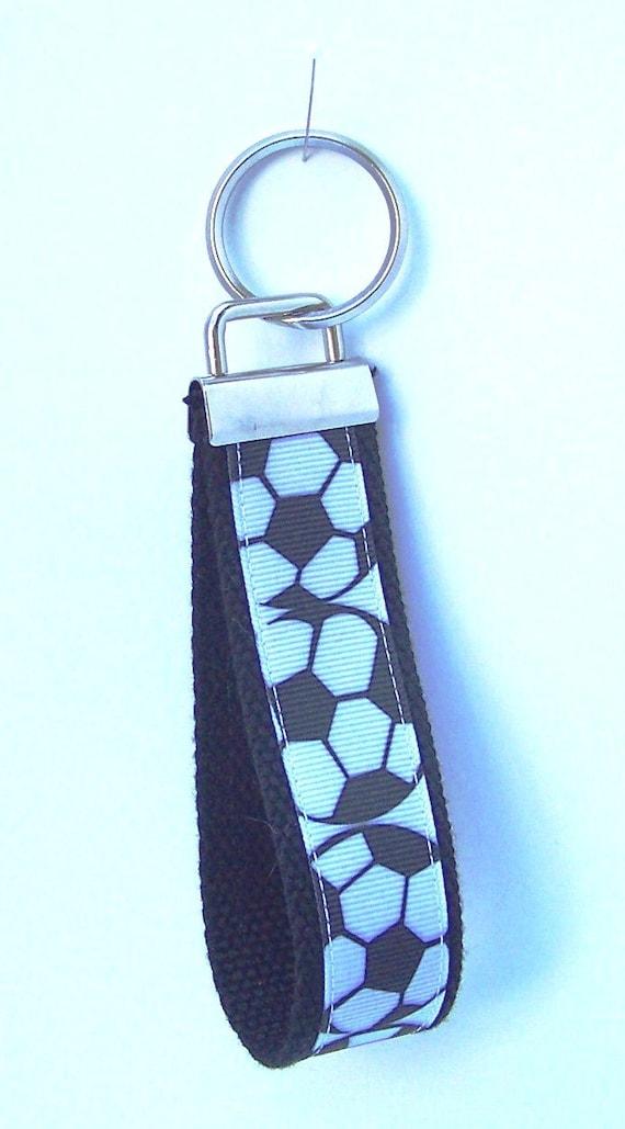 Soccer, Wristlet, Key Chain, Key Fob, Key Ring
