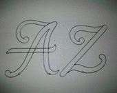 Monogram Script 12 Inch Metal Letters
