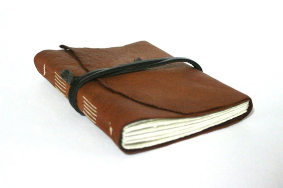 Leather Journal 4.5 x 6 Copper Handbound Journal with 100 pages by The Orange Windmill on Etsy