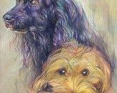 Custom Pet Portrait for Andrea (Buster and Varken)