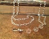 Clear Crystal Rosary Style Charm Carrier