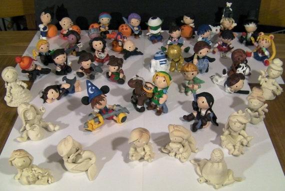 Reserved for Kristen: Custom Single Chibi Figurine.