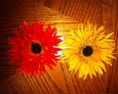 Fall Flowers, hair clips