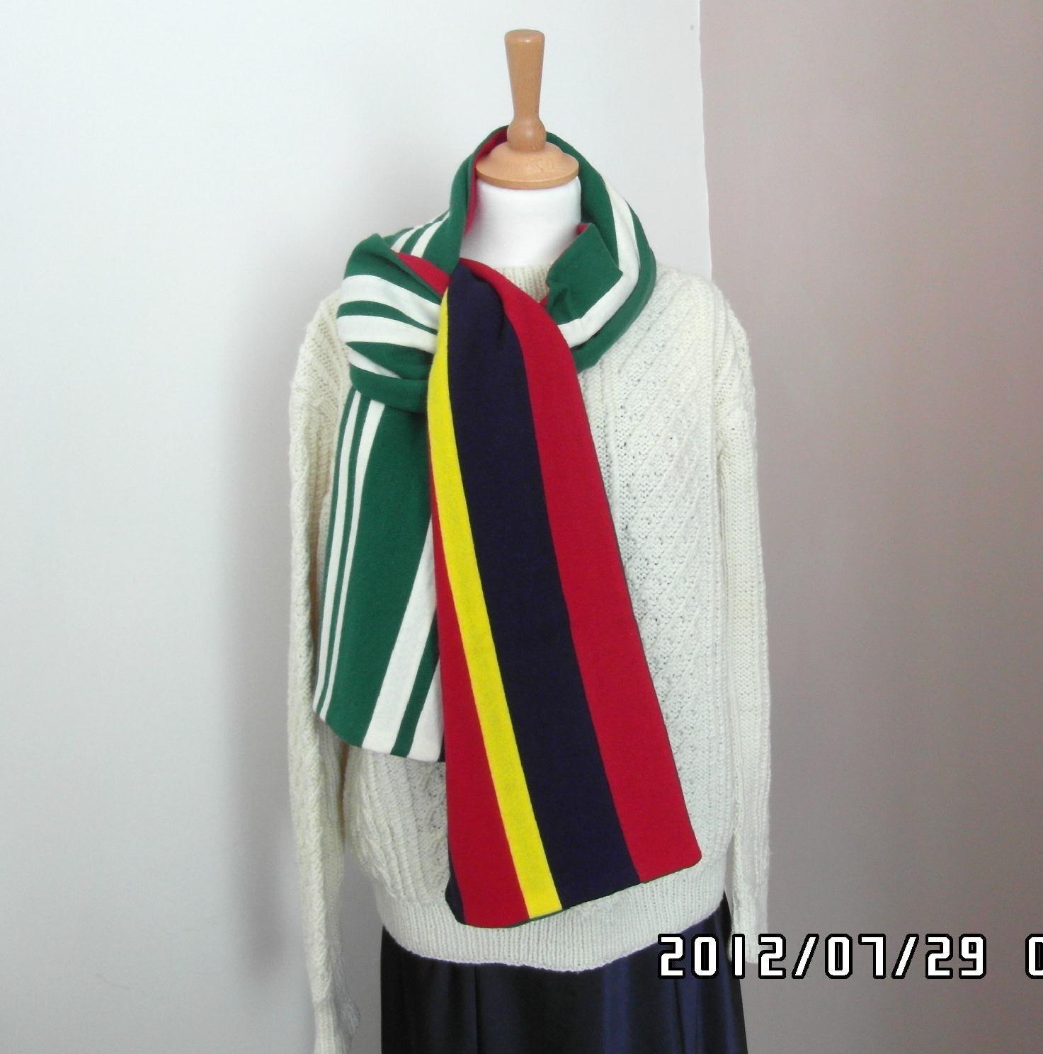 vintage wool college scarf of wales