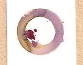 Blend Number 74 - Coffee, Wine & Tea - Original OOAK Watercolor Painting, Framed
