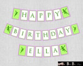 Fairy Neverland Birthday Party Banner- Printable or Shipped